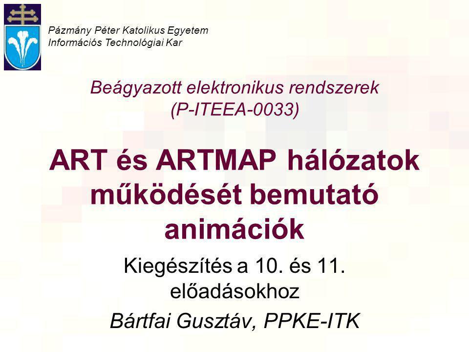 ART és ARTMAP hálózatok működését bemutató animációk