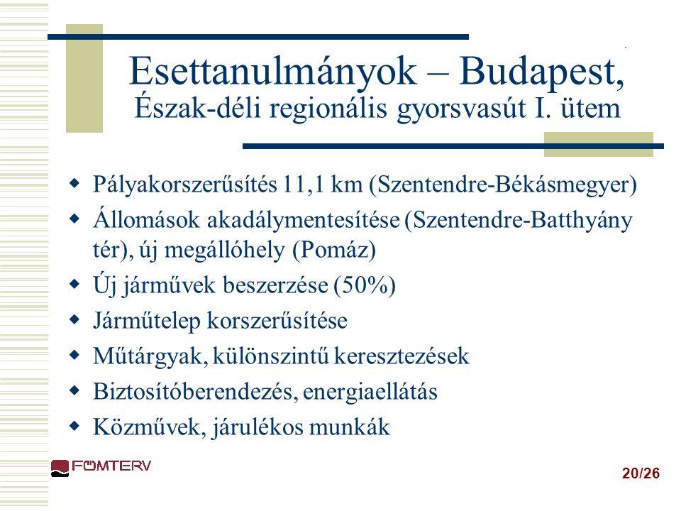 Esettanulmányok – Budapest, Észak-déli regionális gyorsvasút I. ütem