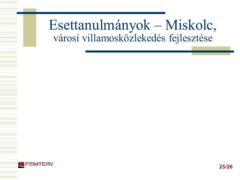 Esettanulmányok – Miskolc, városi villamosközlekedés fejlesztése