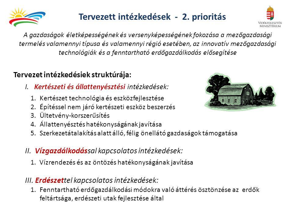 Tervezett intézkedések - 2. prioritás
