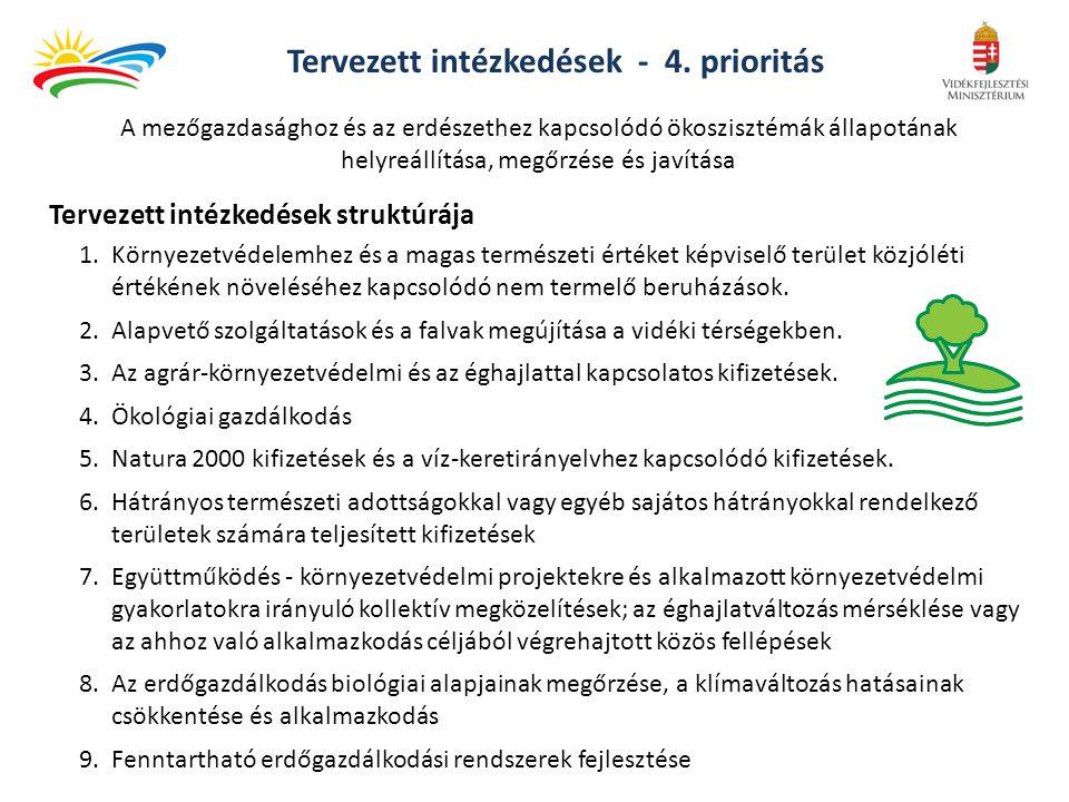 Tervezett intézkedések - 4. prioritás