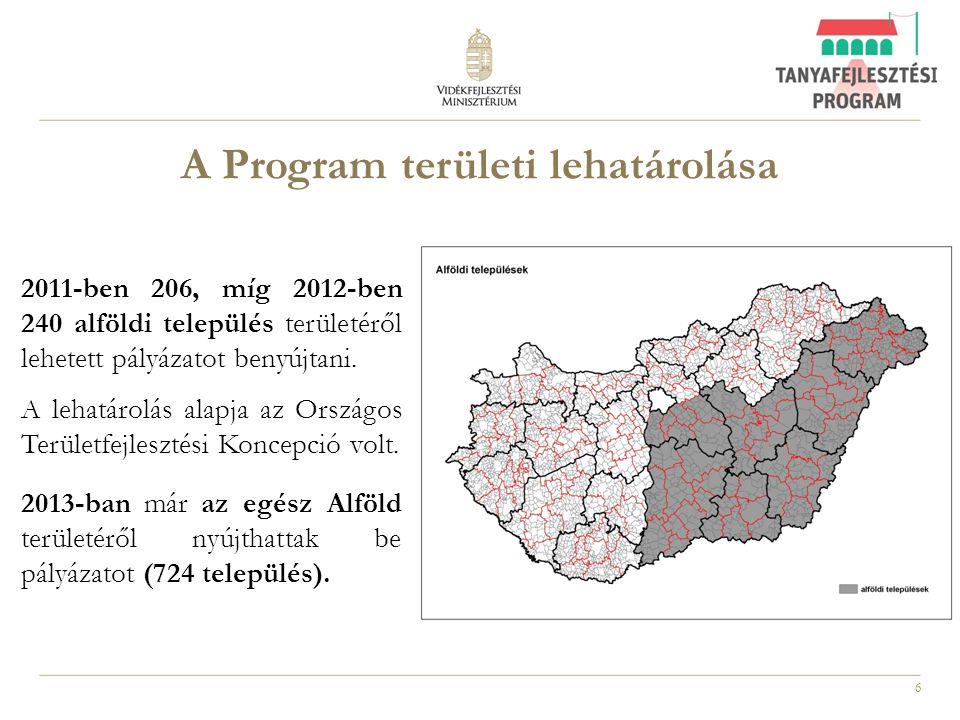 A Program területi lehatárolása