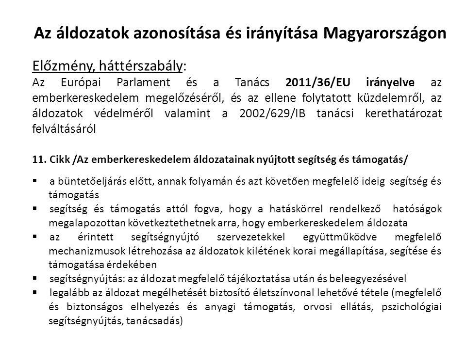 Az áldozatok azonosítása és irányítása Magyarországon