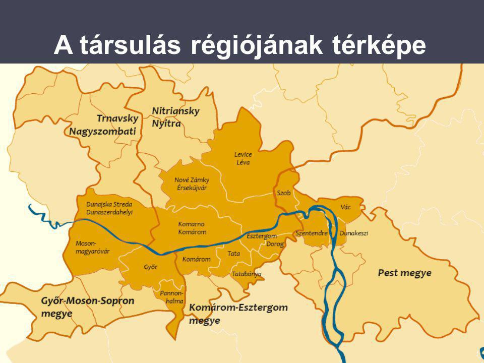 A társulás régiójának térképe
