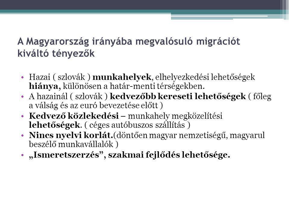 A Magyarország irányába megvalósuló migrációt kiváltó tényezők