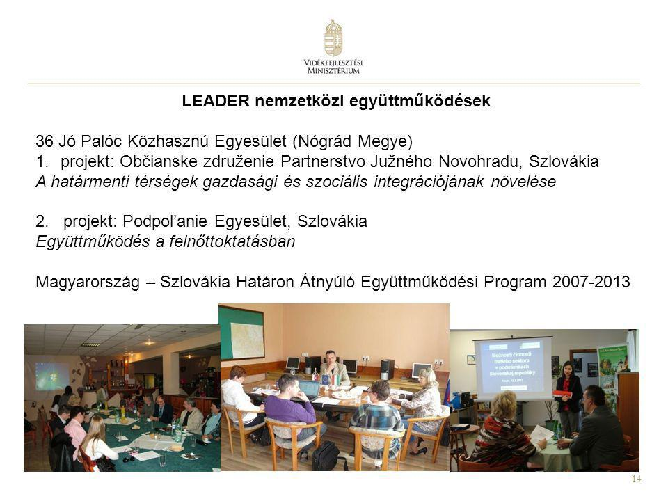 LEADER nemzetközi együttműködések