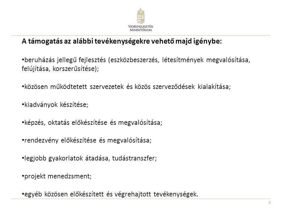A támogatás az alábbi tevékenységekre vehető majd igénybe: