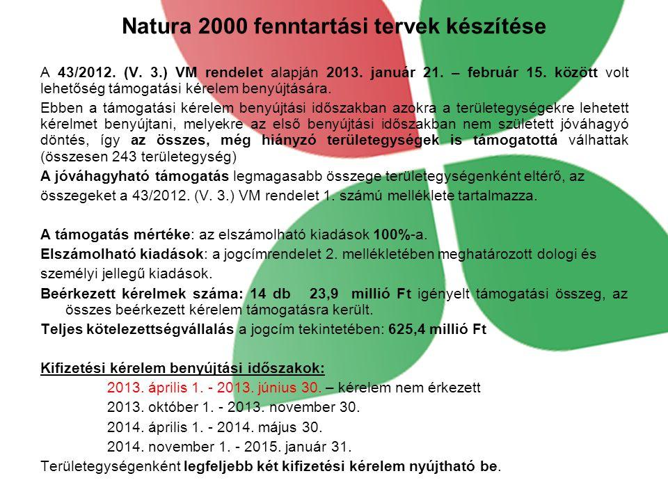 Natura 2000 fenntartási tervek készítése