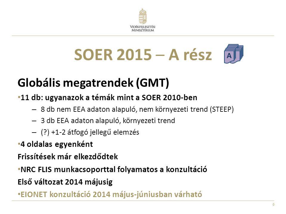 SOER 2015 – A rész Globális megatrendek (GMT)