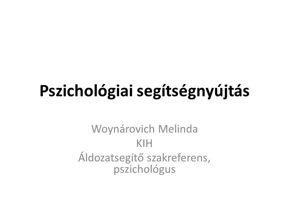 Pszichológiai segítségnyújtás