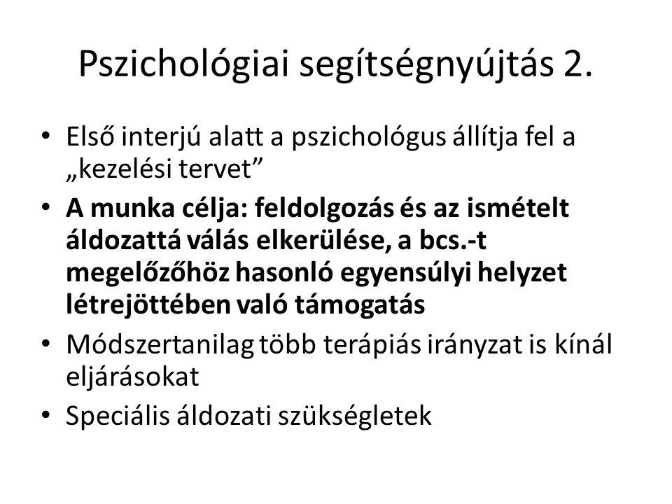 Pszichológiai segítségnyújtás 2.