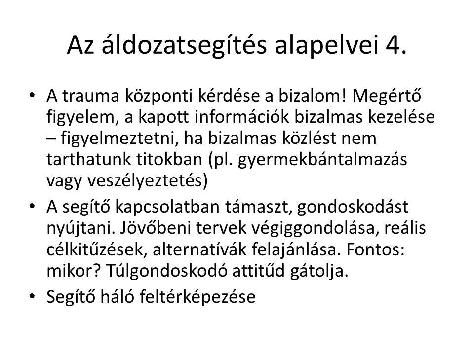 Az áldozatsegítés alapelvei 4.