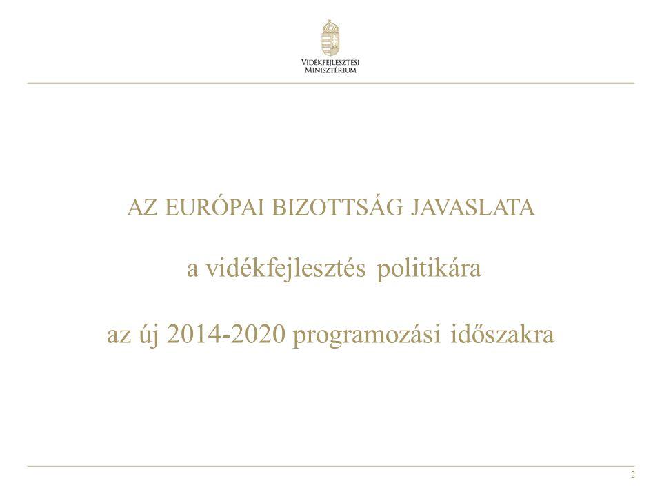 AZ EURÓPAI BIZOTTSÁG JAVASLATA a vidékfejlesztés politikára az új 2014-2020 programozási időszakra