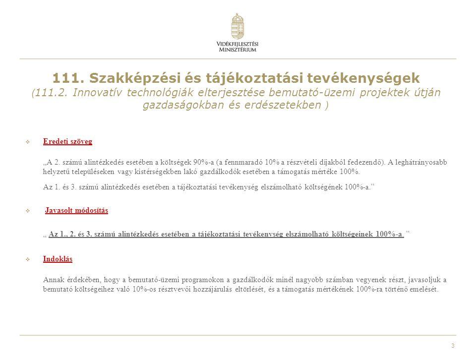 111. Szakképzési és tájékoztatási tevékenységek (111. 2