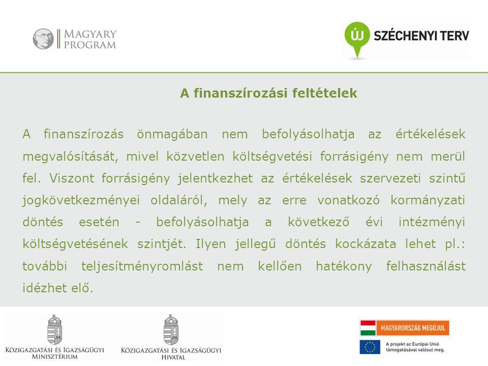 A finanszírozási feltételek