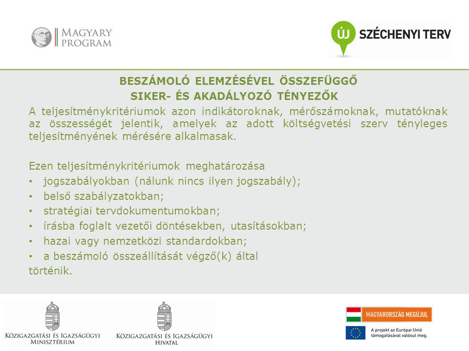 BESZÁMOLÓ ELEMZÉSÉVEL ÖSSZEFÜGGŐ
