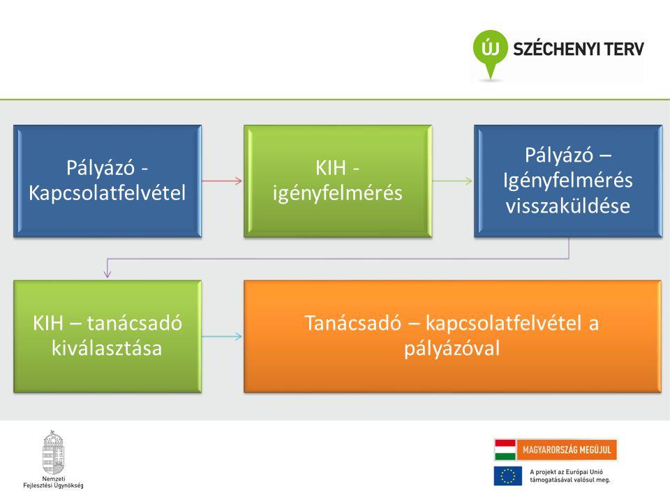 Pályázó - Kapcsolatfelvétel KIH - igényfelmérés