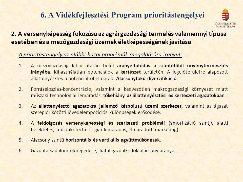 6. A Vidékfejlesztési Program prioritástengelyei