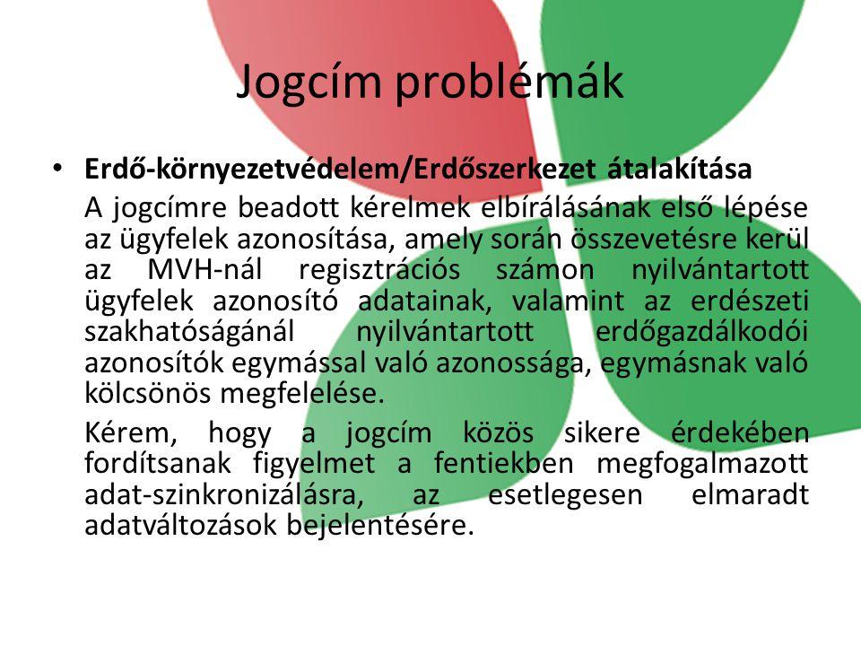 Jogcím problémák Erdő-környezetvédelem/Erdőszerkezet átalakítása