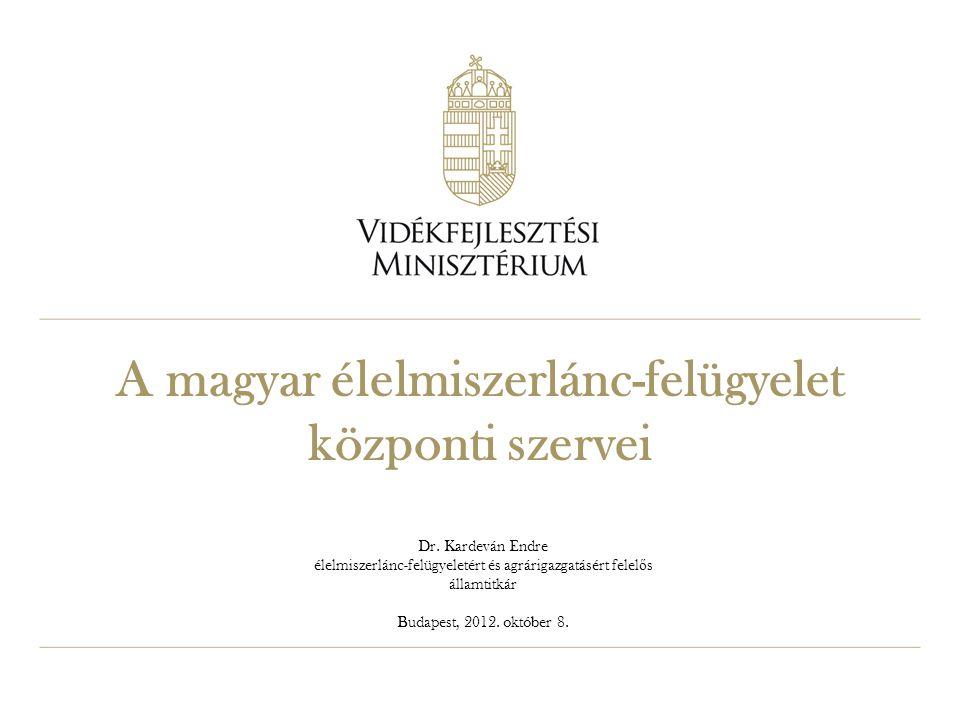 A magyar élelmiszerlánc-felügyelet központi szervei