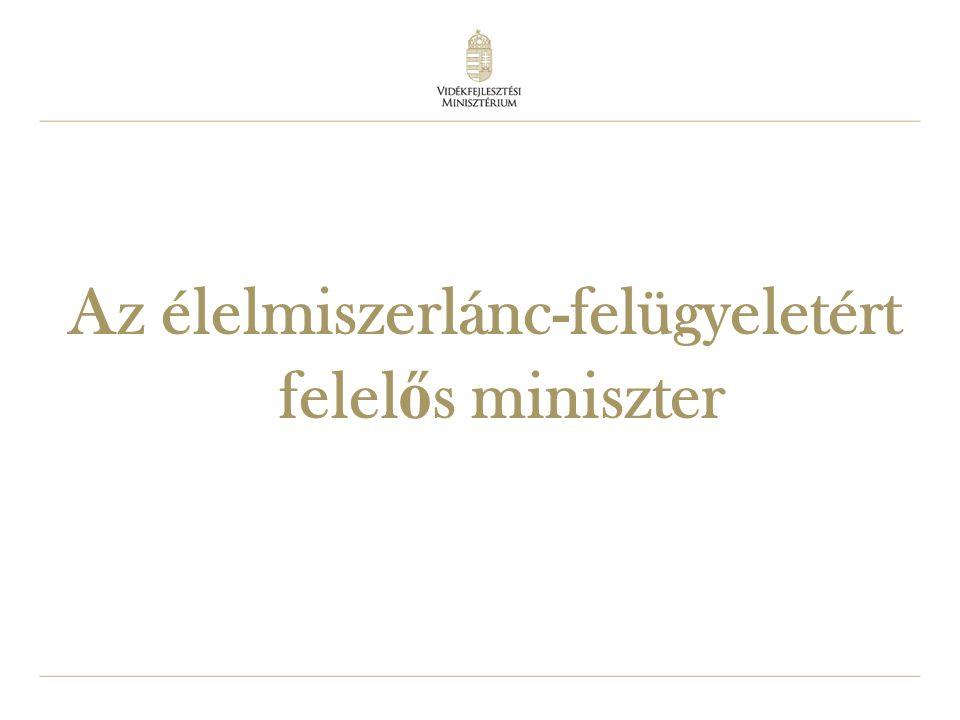 Az élelmiszerlánc-felügyeletért felelős miniszter