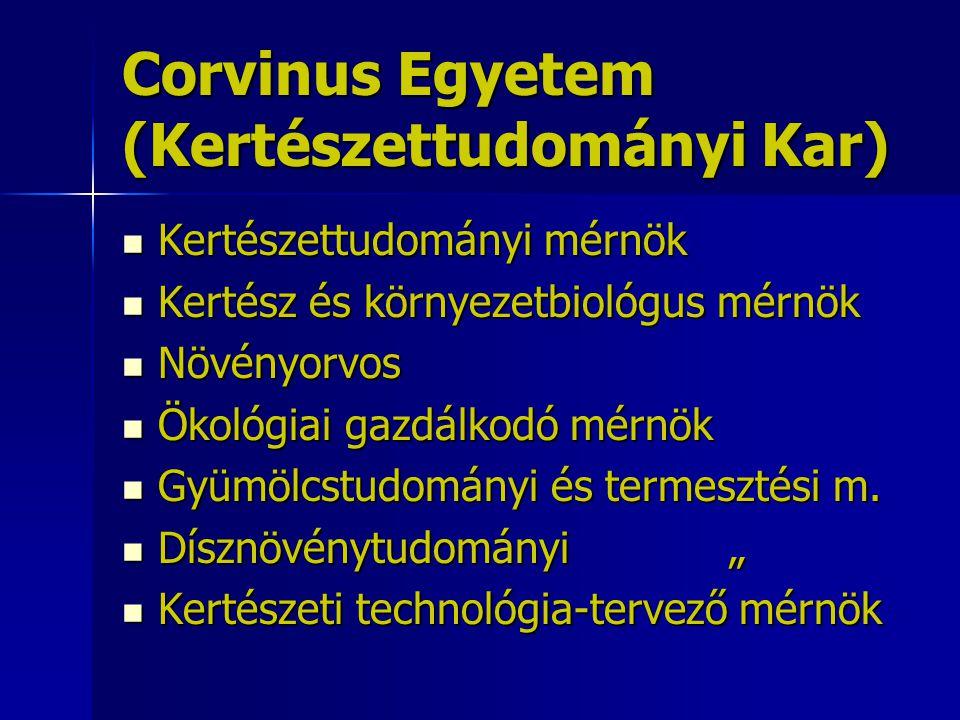 Corvinus Egyetem (Kertészettudományi Kar)