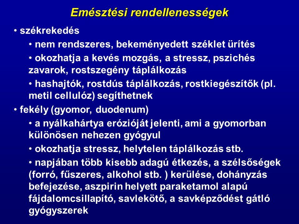 Emésztési rendellenességek