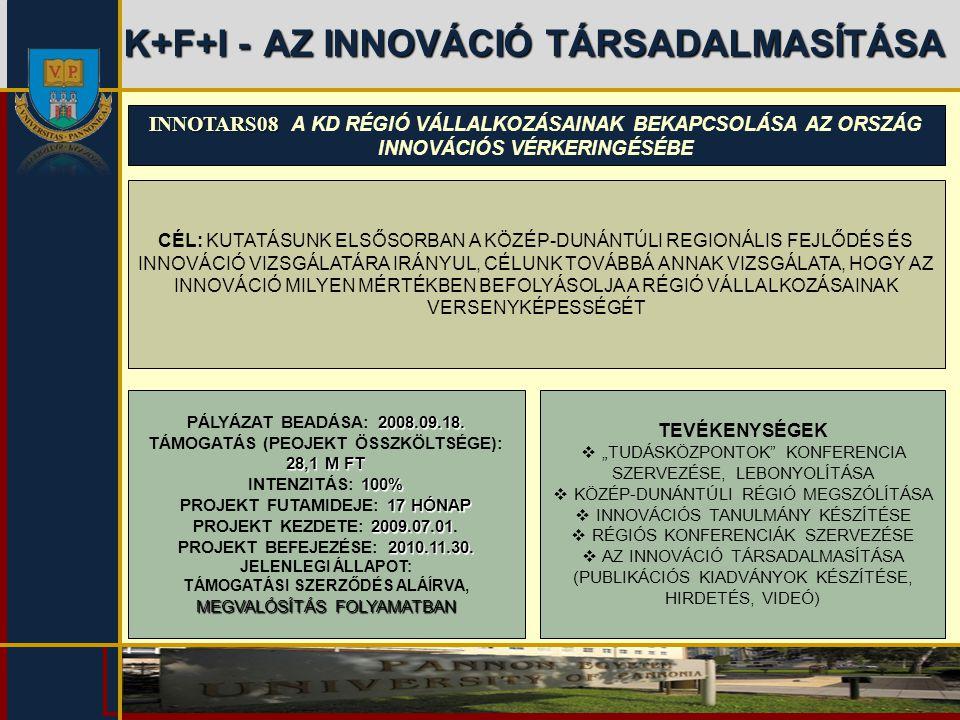 K+F+I - AZ INNOVÁCIÓ TÁRSADALMASÍTÁSA