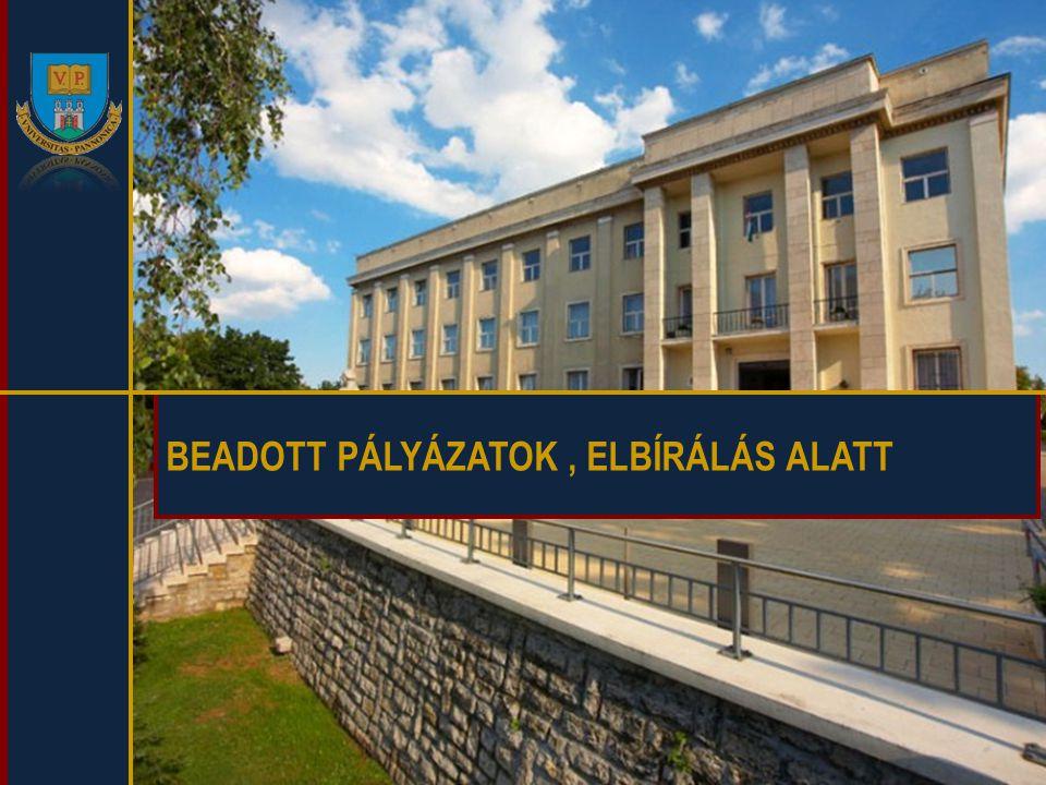 BEADOTT PÁLYÁZATOK , ELBÍRÁLÁS ALATT