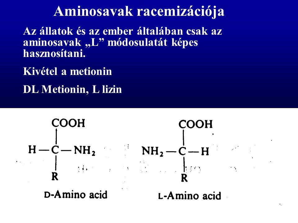 Aminosavak racemizációja