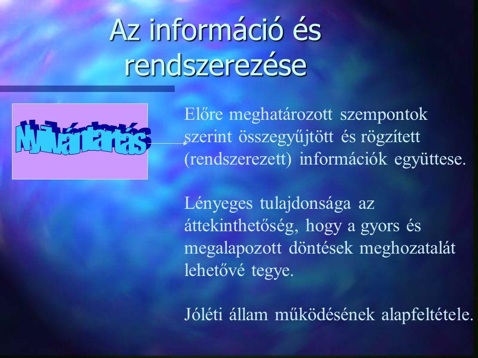 Az információ és rendszerezése