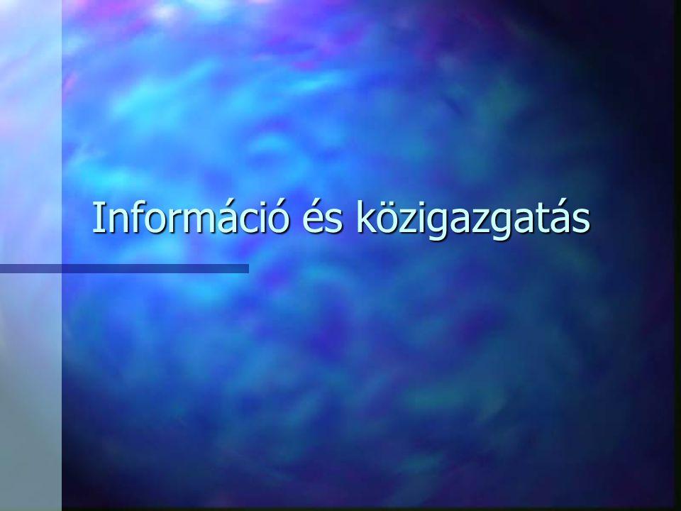Információ és közigazgatás