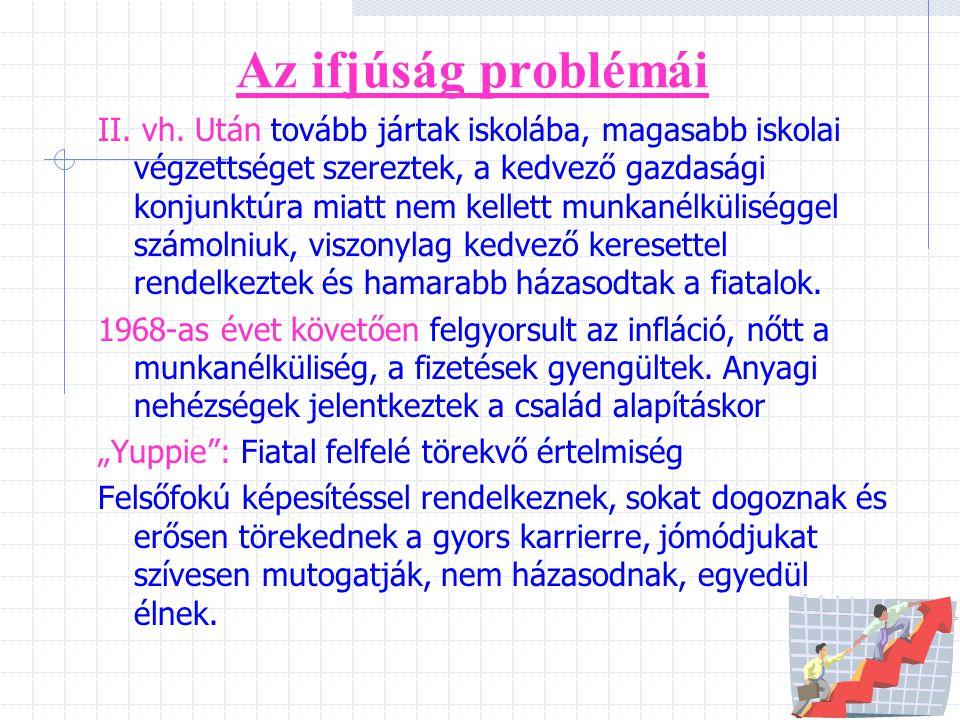 Az ifjúság problémái
