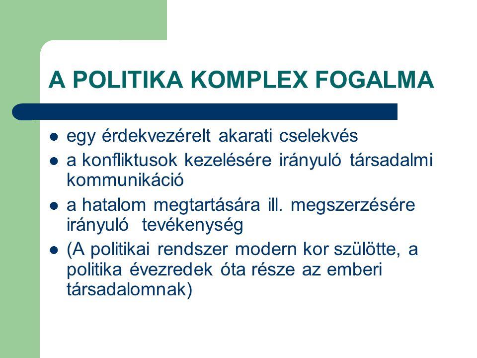 A POLITIKA KOMPLEX FOGALMA
