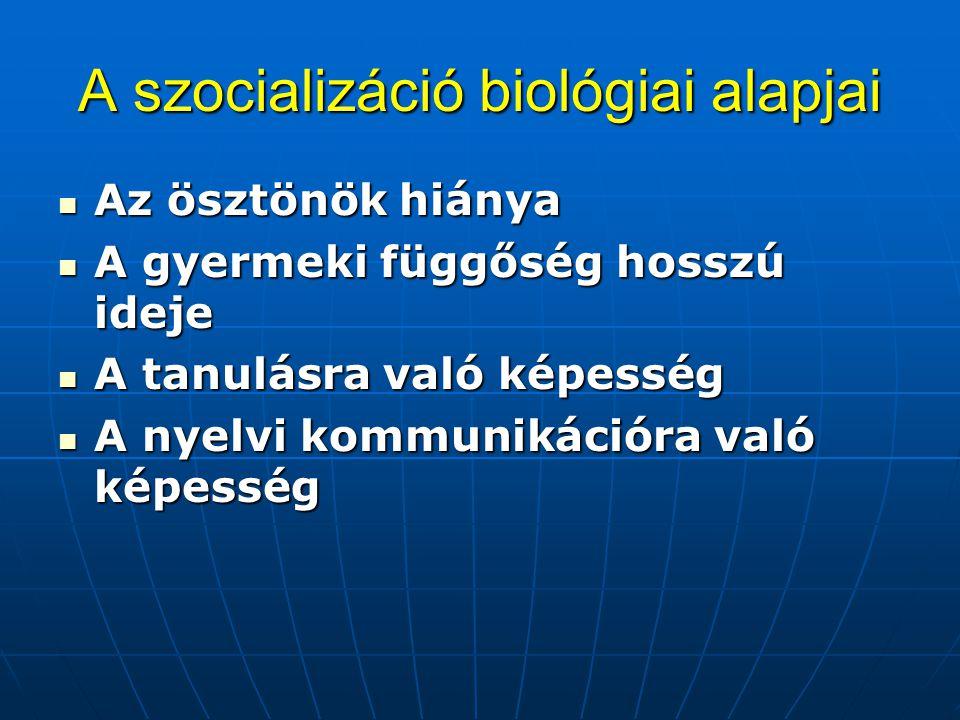 A szocializáció biológiai alapjai