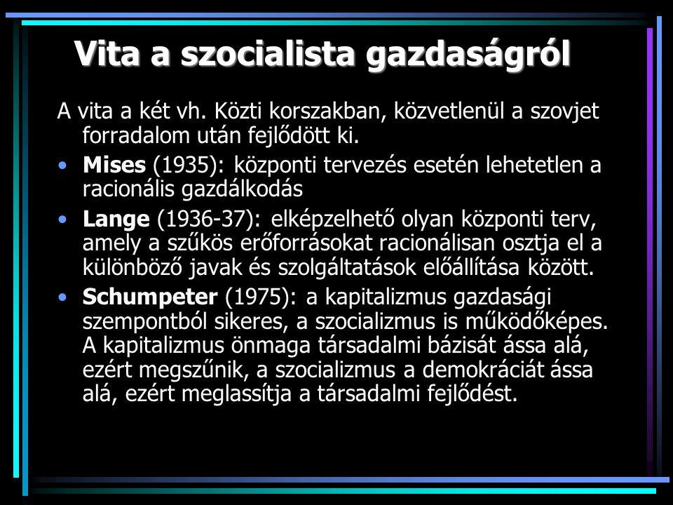 Vita a szocialista gazdaságról