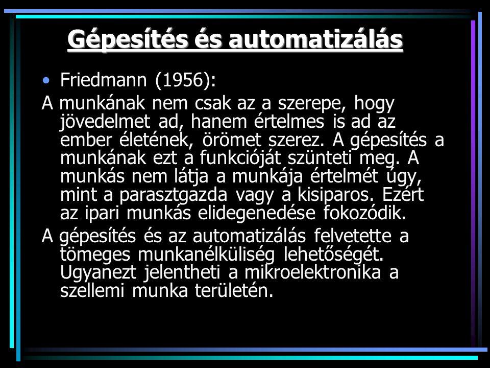 Gépesítés és automatizálás