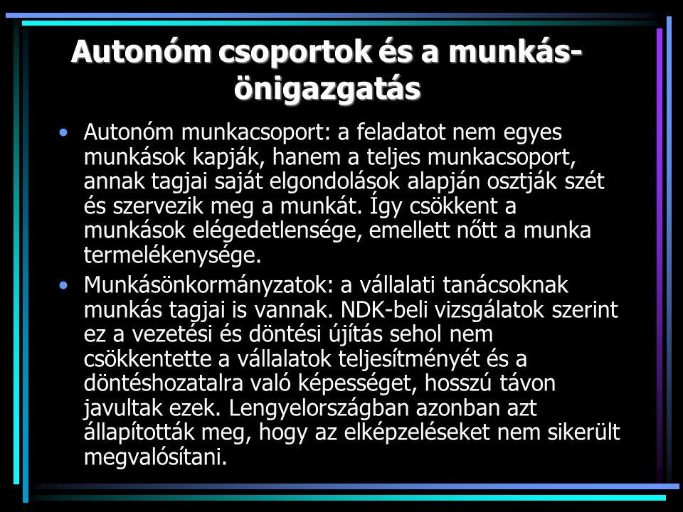 Autonóm csoportok és a munkás-önigazgatás
