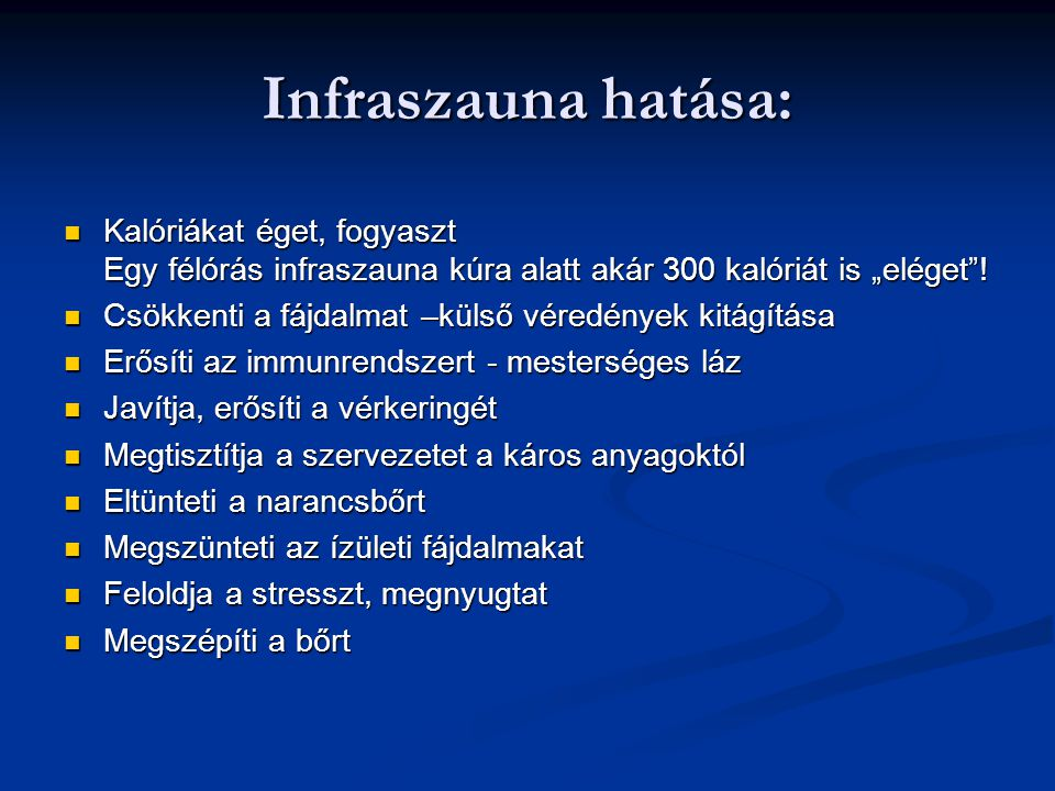 """Infraszauna hatása: Kalóriákat éget, fogyaszt Egy félórás infraszauna kúra alatt akár 300 kalóriát is """"eléget !"""