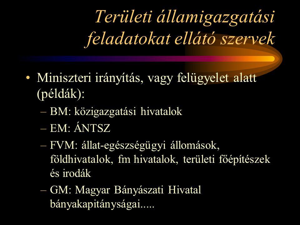 Területi államigazgatási feladatokat ellátó szervek