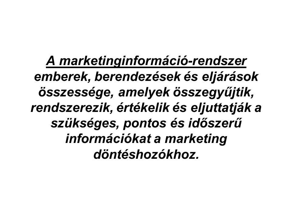 A marketinginformáció-rendszer emberek, berendezések és eljárások összessége, amelyek összegyűjtik, rendszerezik, értékelik és eljuttatják a szükséges, pontos és időszerű információkat a marketing döntéshozókhoz.
