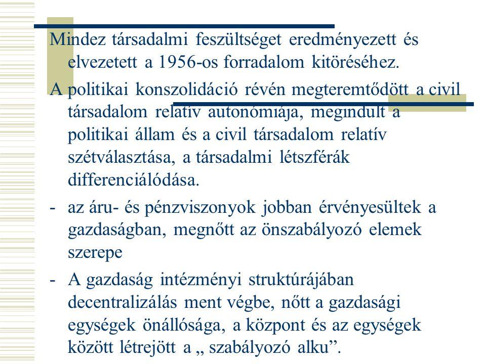 Mindez társadalmi feszültséget eredményezett és elvezetett a 1956-os forradalom kitöréséhez.