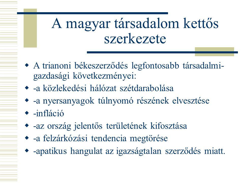 A magyar társadalom kettős szerkezete