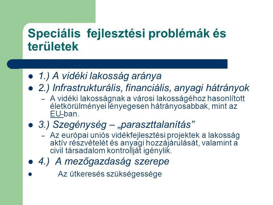 Speciális fejlesztési problémák és területek