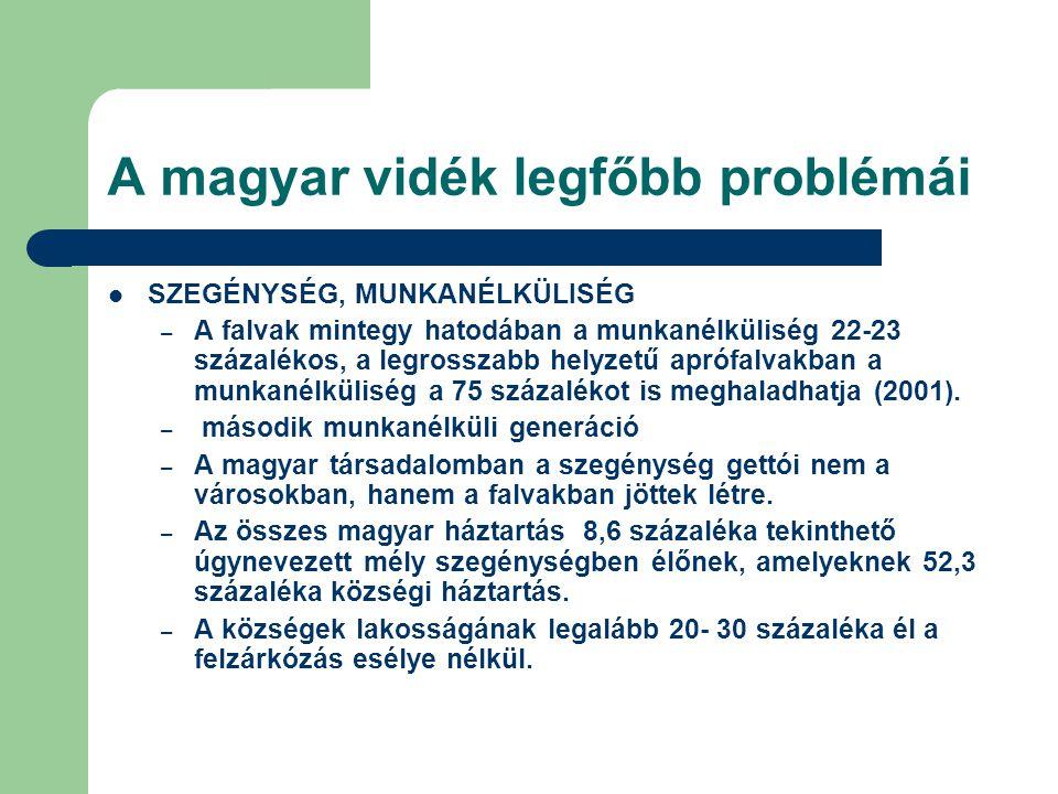 A magyar vidék legfőbb problémái