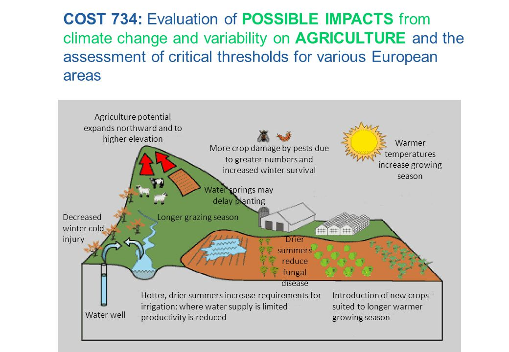COST 734: Evaluation of POSSIBLE IMPACTS from climate change and variability on AGRICULTURE and the assessment of critical thresholds for various European areas