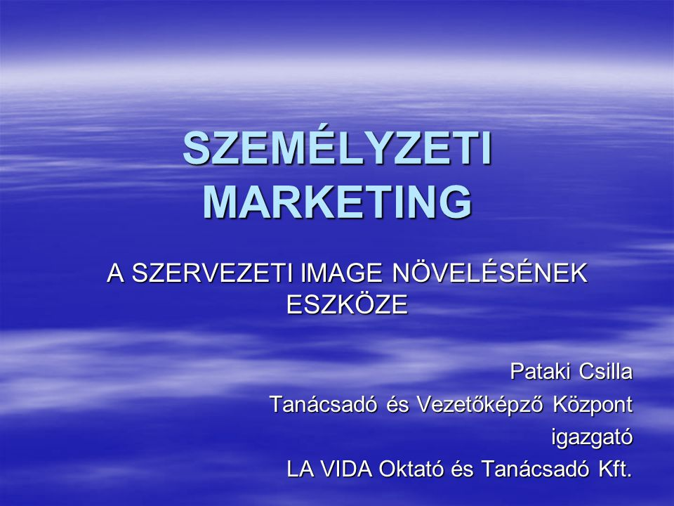SZEMÉLYZETI MARKETING
