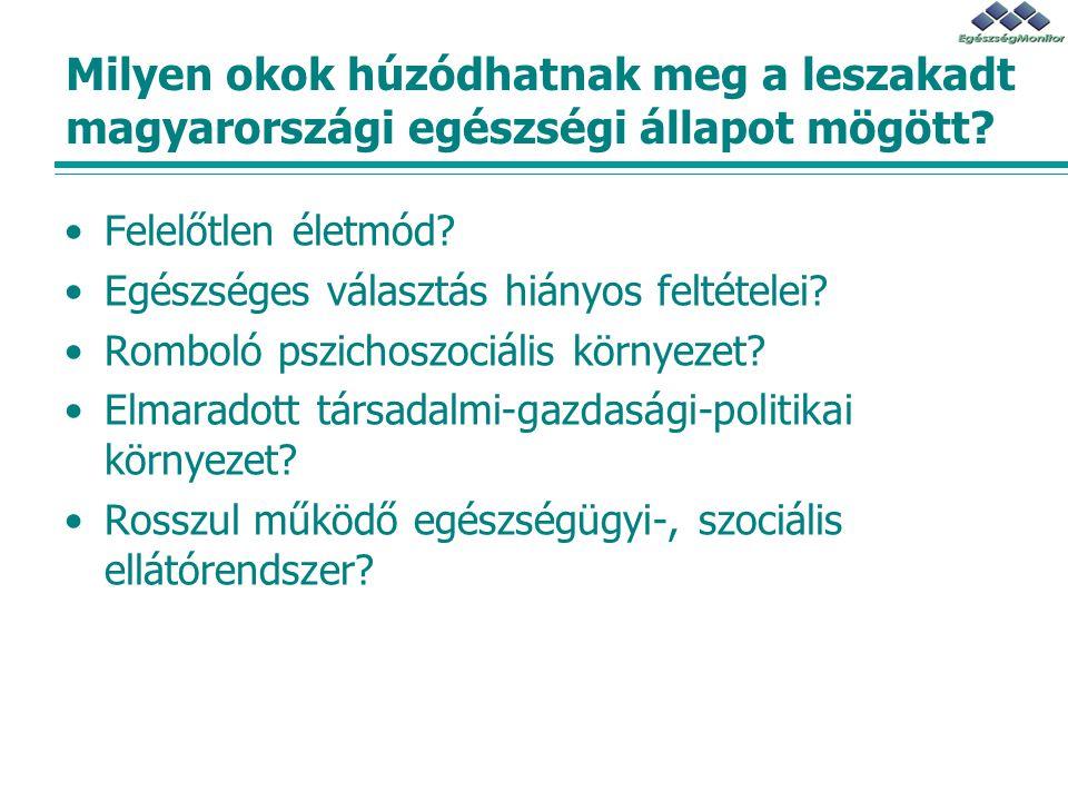 Milyen okok húzódhatnak meg a leszakadt magyarországi egészségi állapot mögött