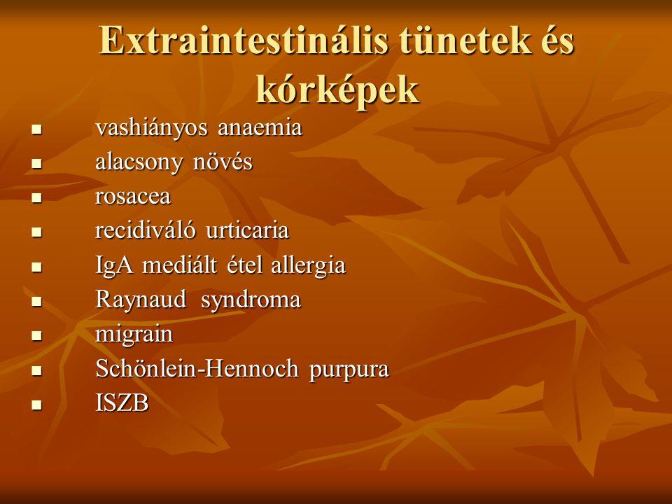 Extraintestinális tünetek és kórképek