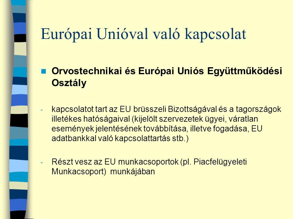 Európai Unióval való kapcsolat